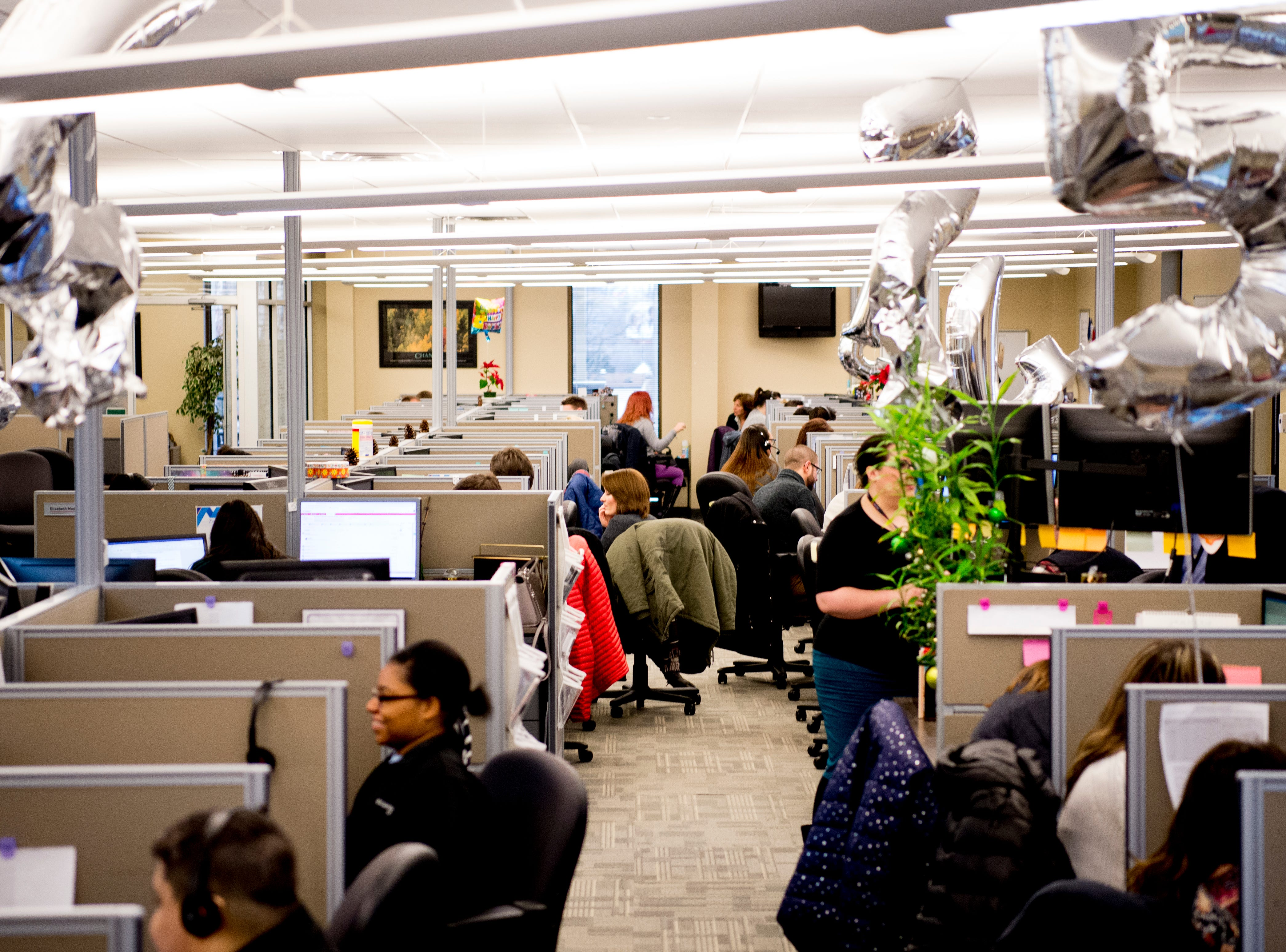 The call center employs around 180 people at the Cellular Sales headquarters on 9040 Executive Park Drive in West Knoxville, Tennessee on Wednesday, January 16, 2019. An authorized agent of Verizon Wireless, Cellular Sales specializes in retail and support for over 700 of Verizon stores in 42 states.