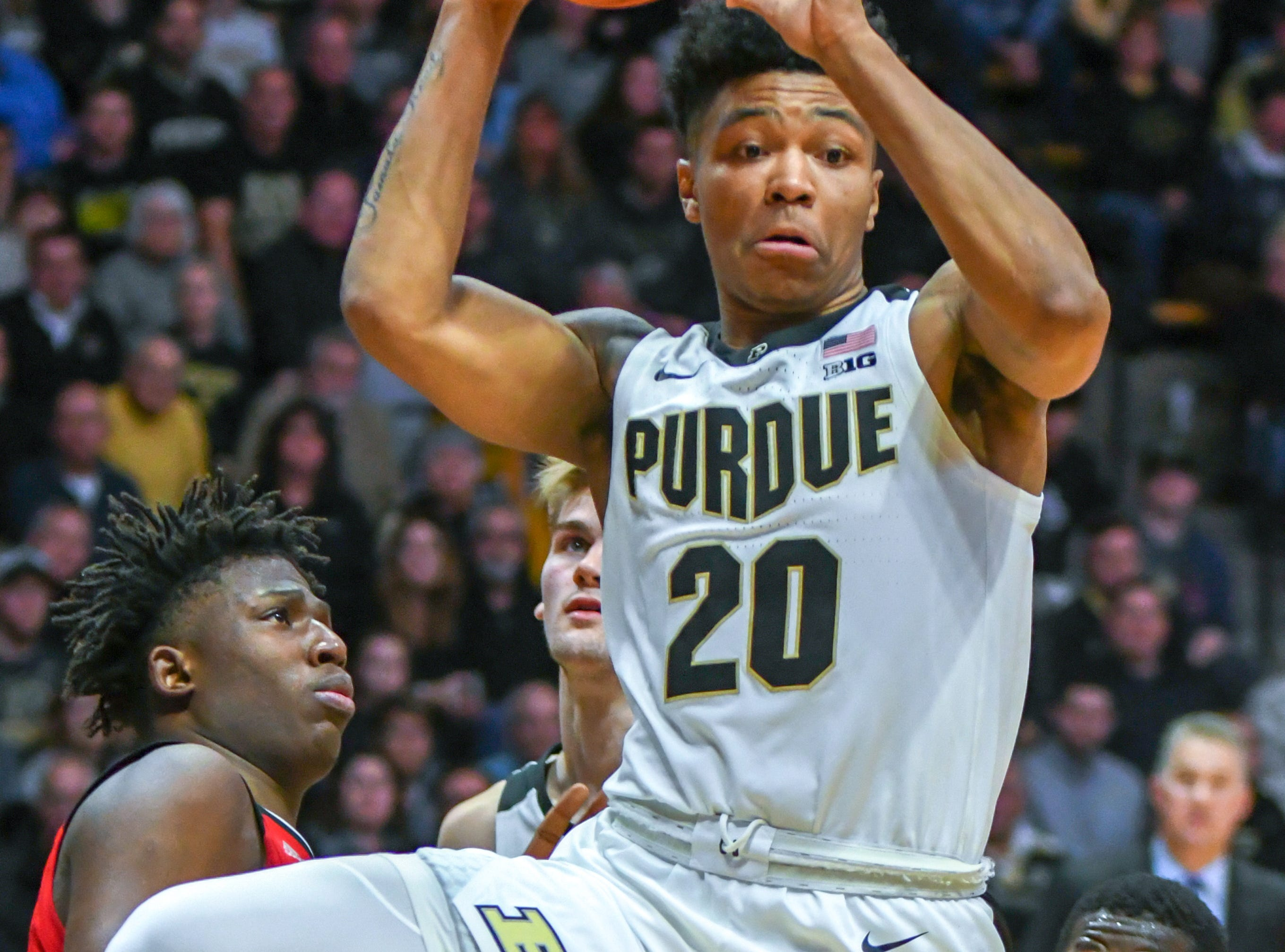 Action from Purdue's 89-54 win over Rutgers at Purdue University in West Lafayette on January 15, 2019. Nojel Eastern