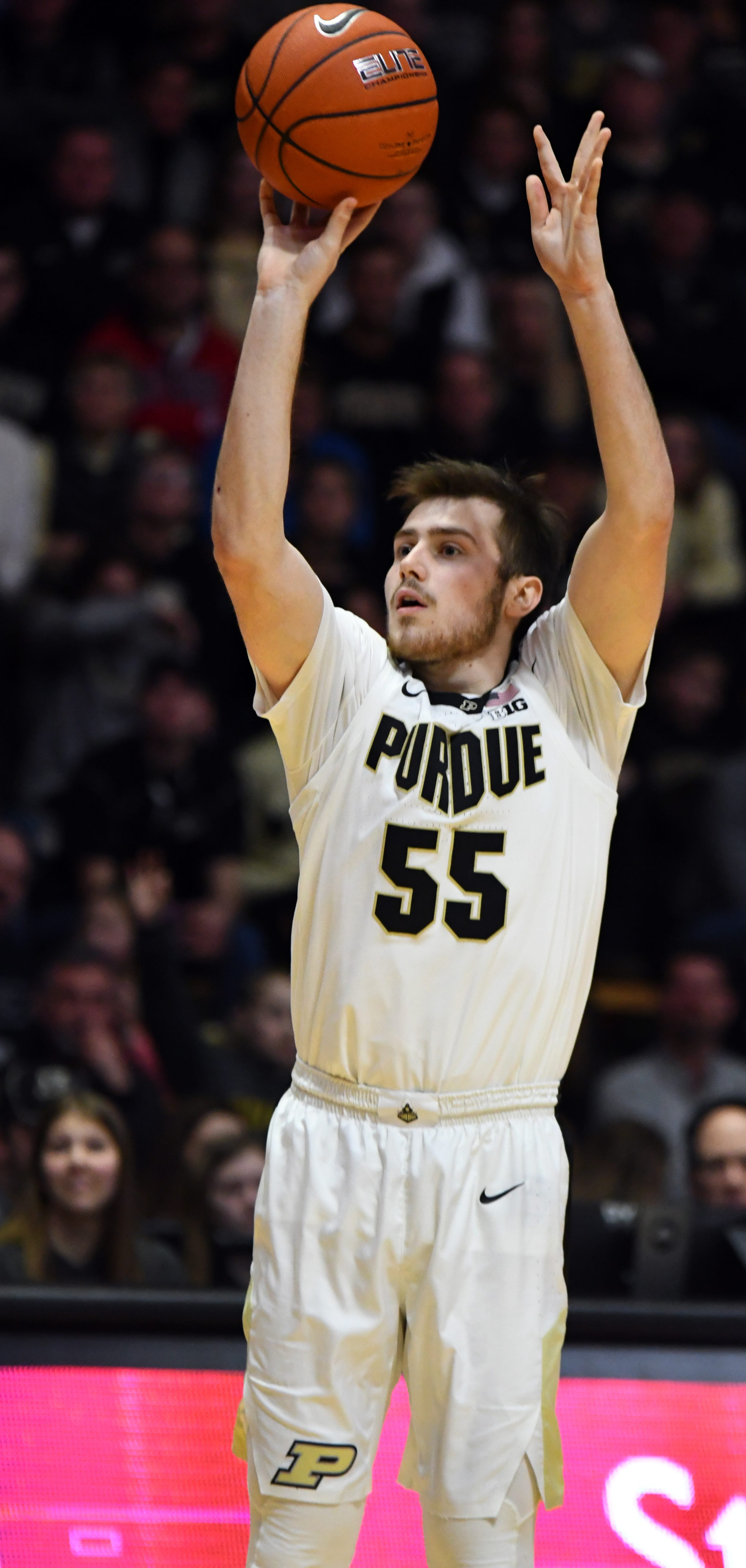 Action from Purdue's 89-54 win over Rutgers at Purdue University in West Lafayette on January 15, 2019. Sasha Stefanovic
