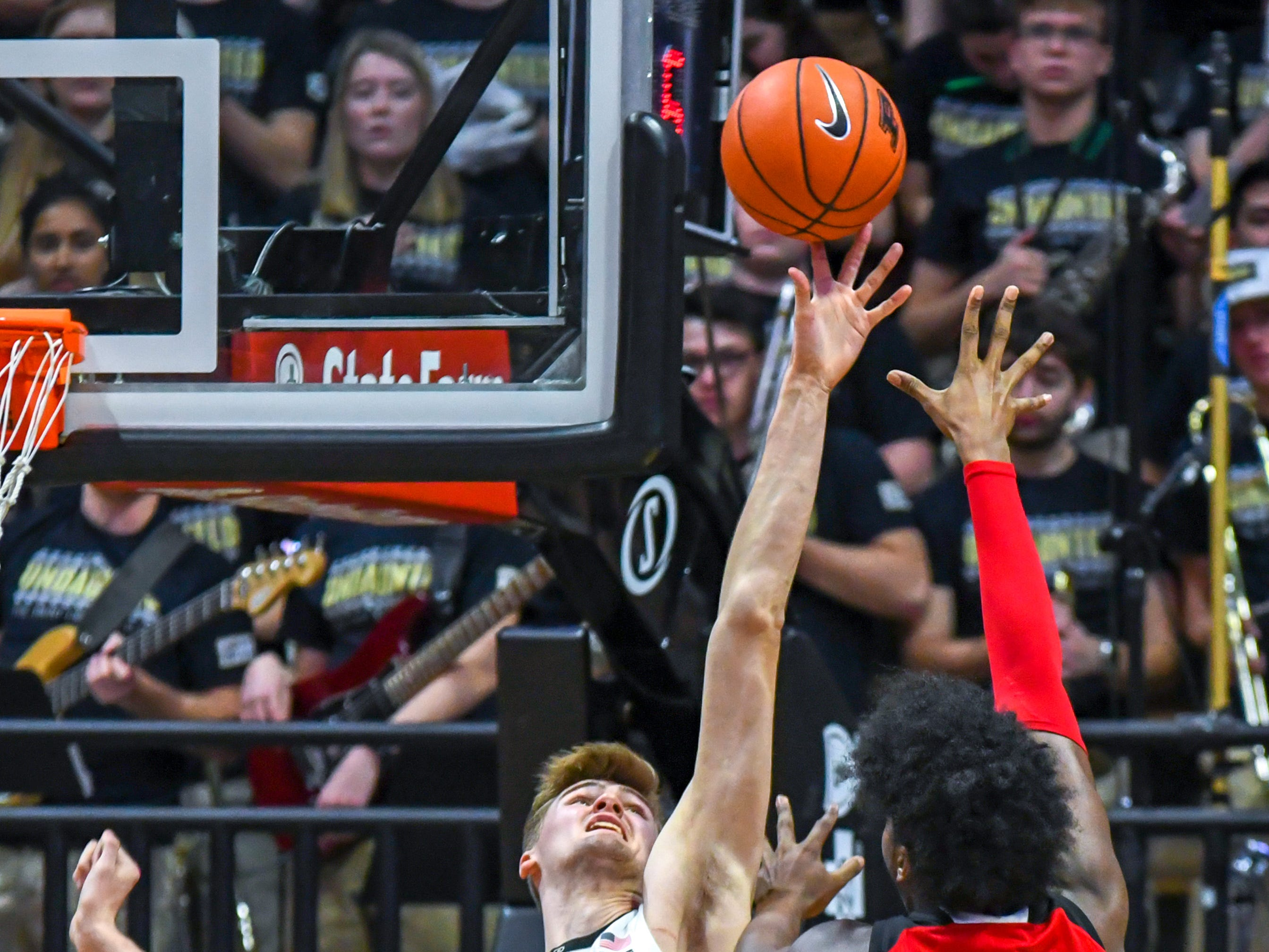 Action from Purdue's 89-54 win over Rutgers at Purdue University in West Lafayette on January 15, 2019. Matt Haarms