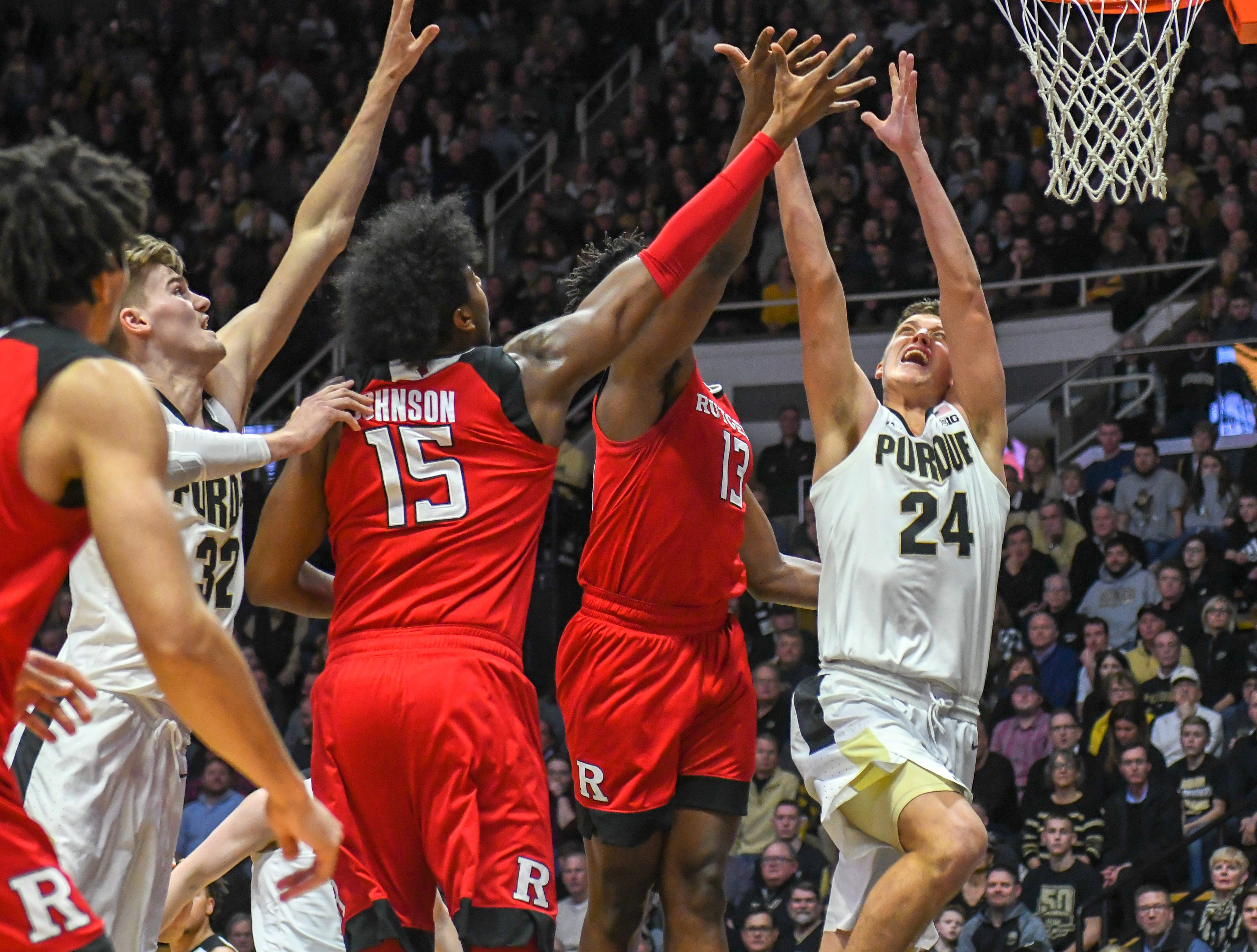 Action from Purdue's 89-54 win over Rutgers at Purdue University in West Lafayette on January 15, 2019. Grady Eifert