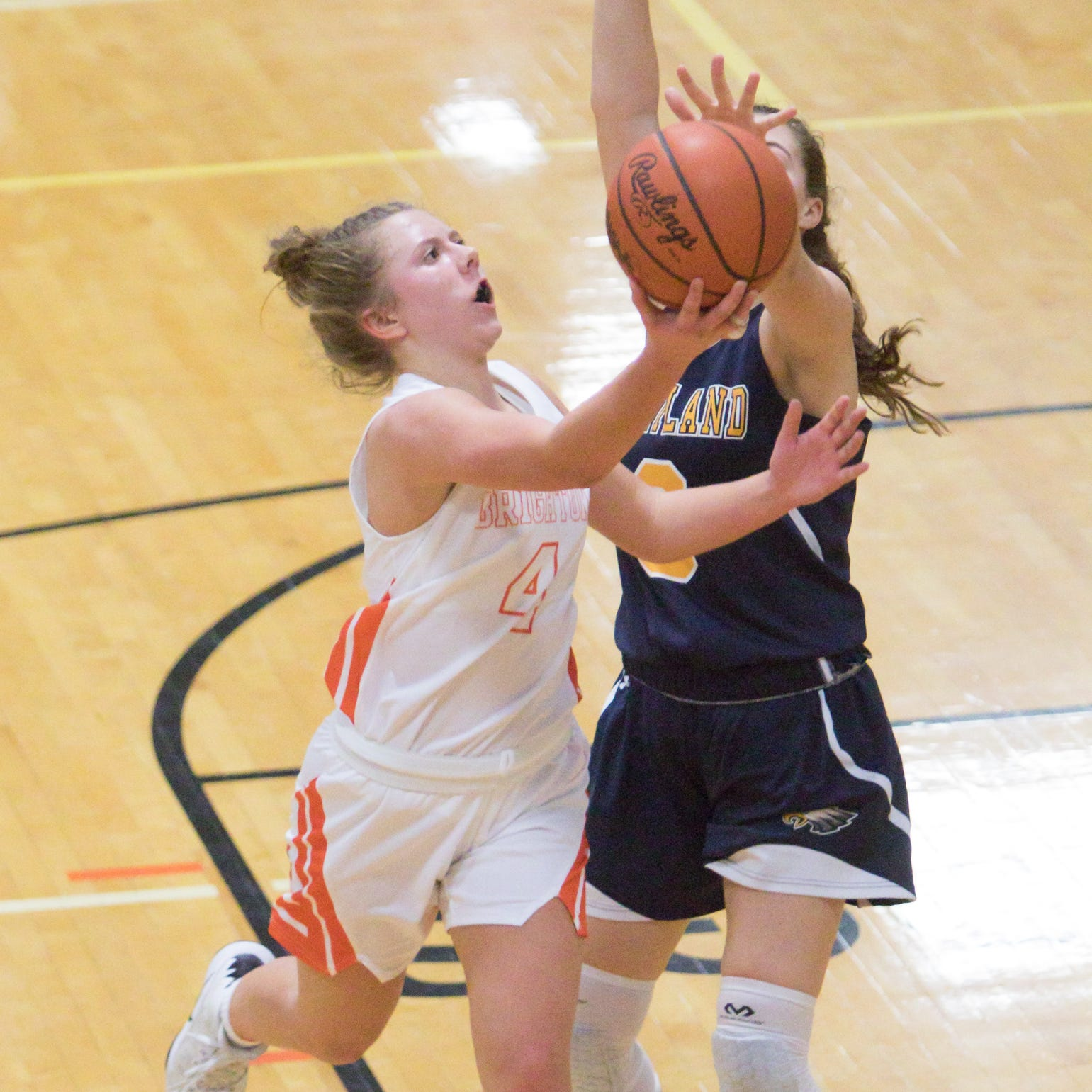 Vogt's career night lifts unbeaten Brighton girls past Hartland