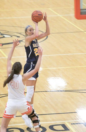 Hartland's Whitney Sollom had 10 points and 10 rebounds in a 50-38 victory over Howell.