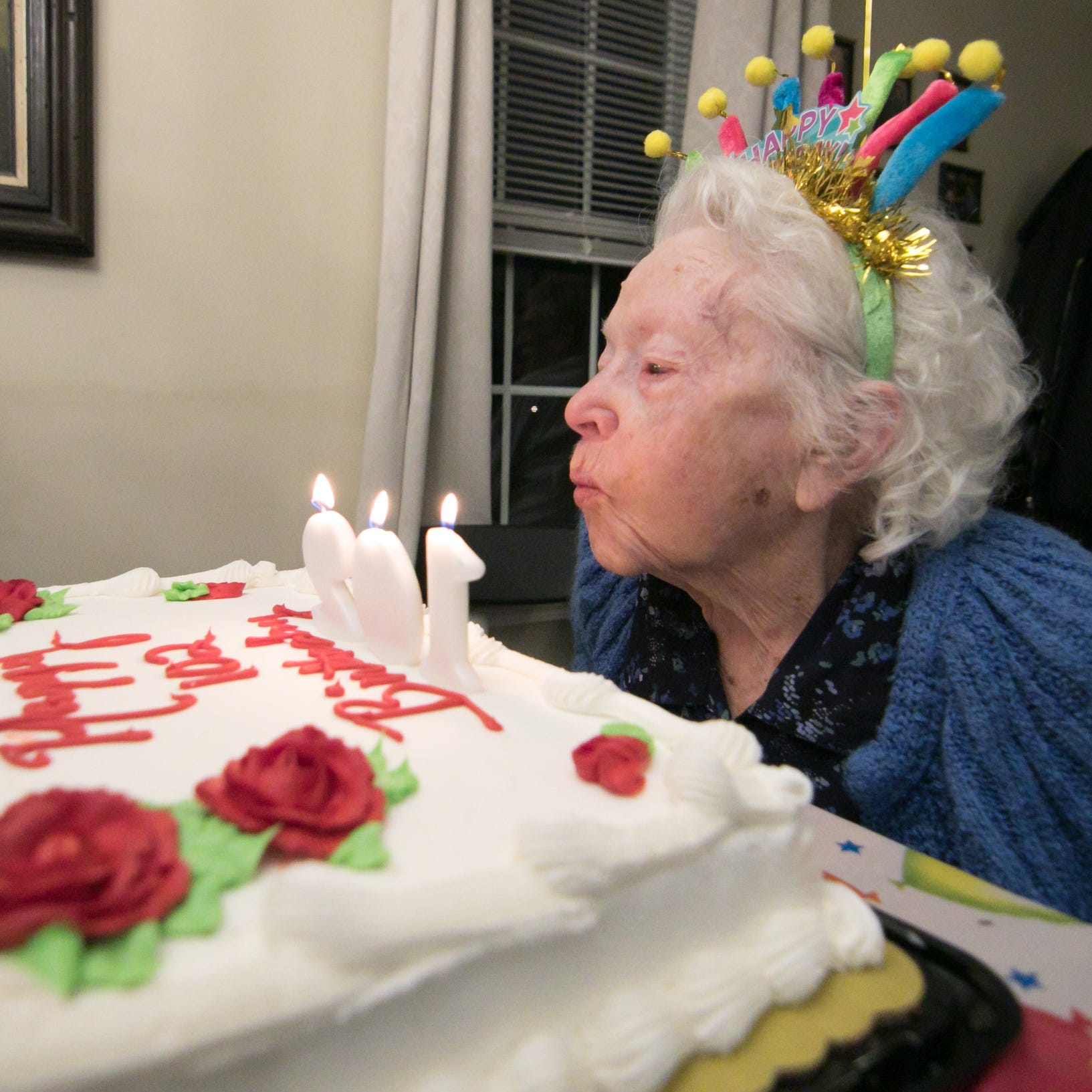 Green Oak woman celebrates 102nd birthday with Elvis, reflects on a century of life