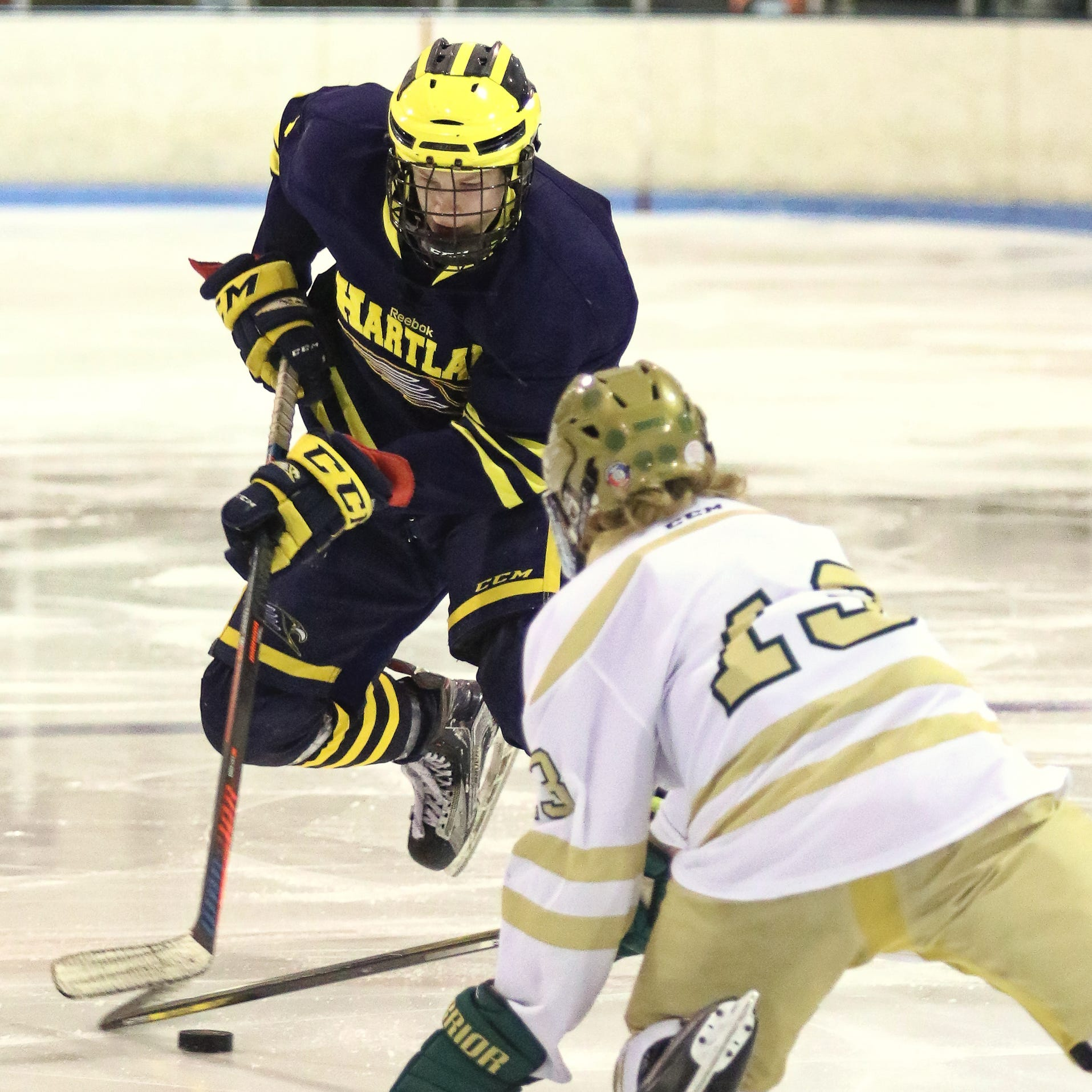 Buzzer-beater propels No. 1-ranked Hartland to hockey victory over Howell