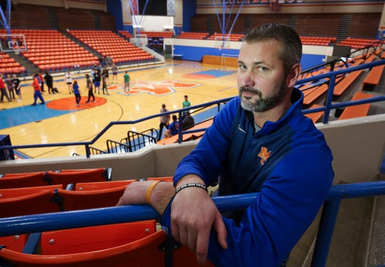 Dan Langhi, the girls basketball and volleyball coach at the Marshall County High School, helped lead some students to safety during last year's school shooting. Jan. 14, 2019