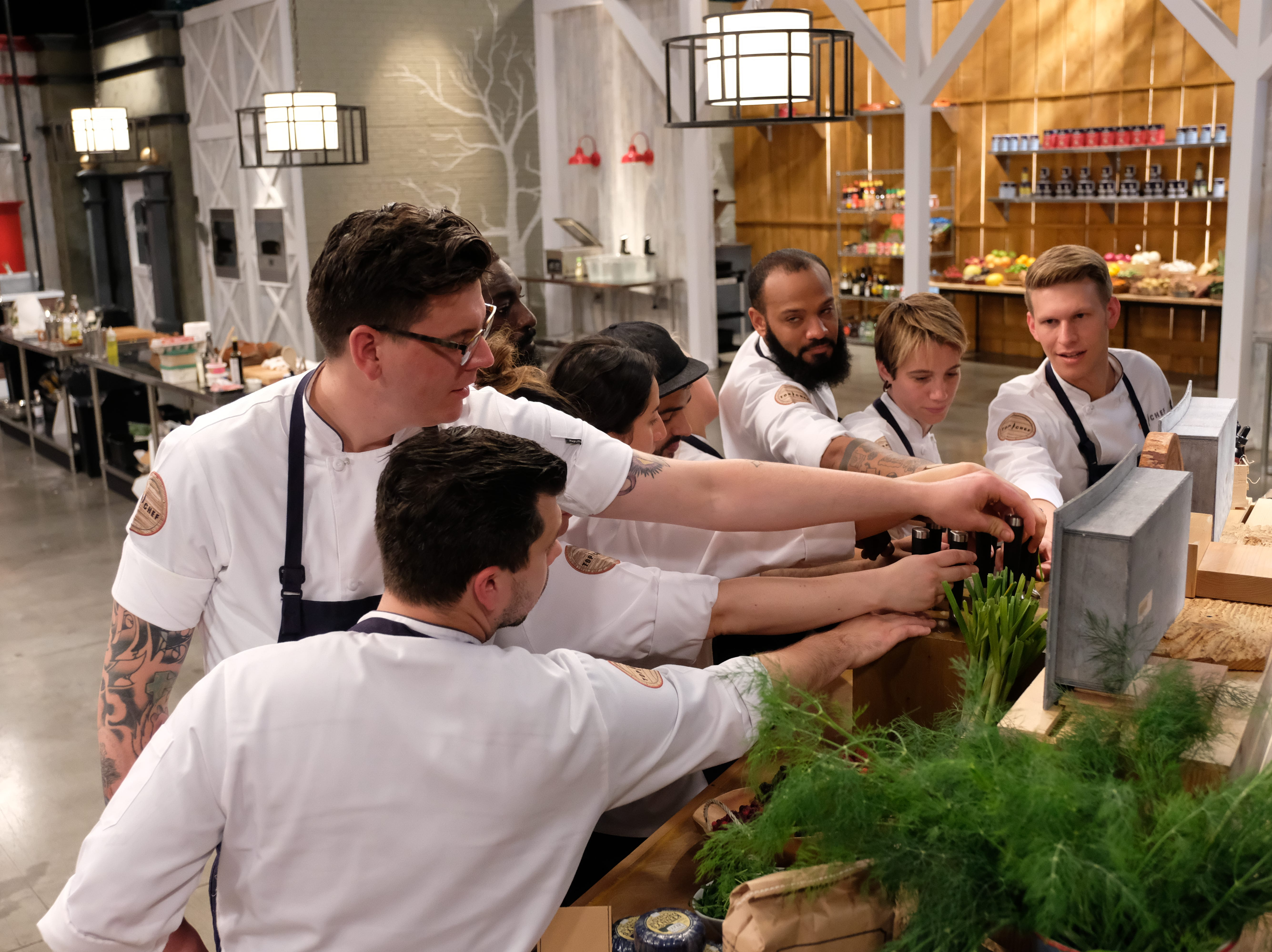Contestants on episode 7 of Bravo's 'Top Chef: Kentucky.'