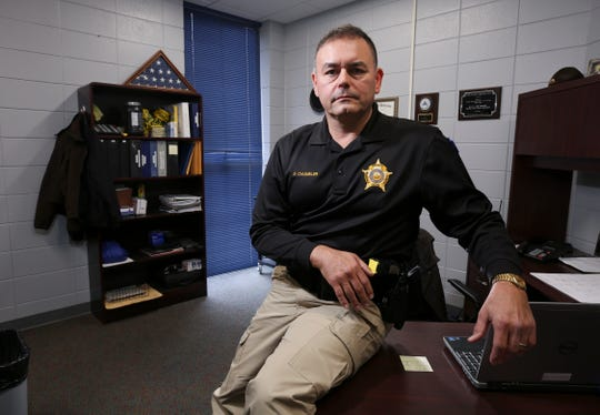 Sgt. Ray Chumbler, the school resource officer at the Marshall County High School, was the first officer to enter the building during the 2018 school shooting there. He saw students running out and ran toward the source of panic. Jan. 14, 2019