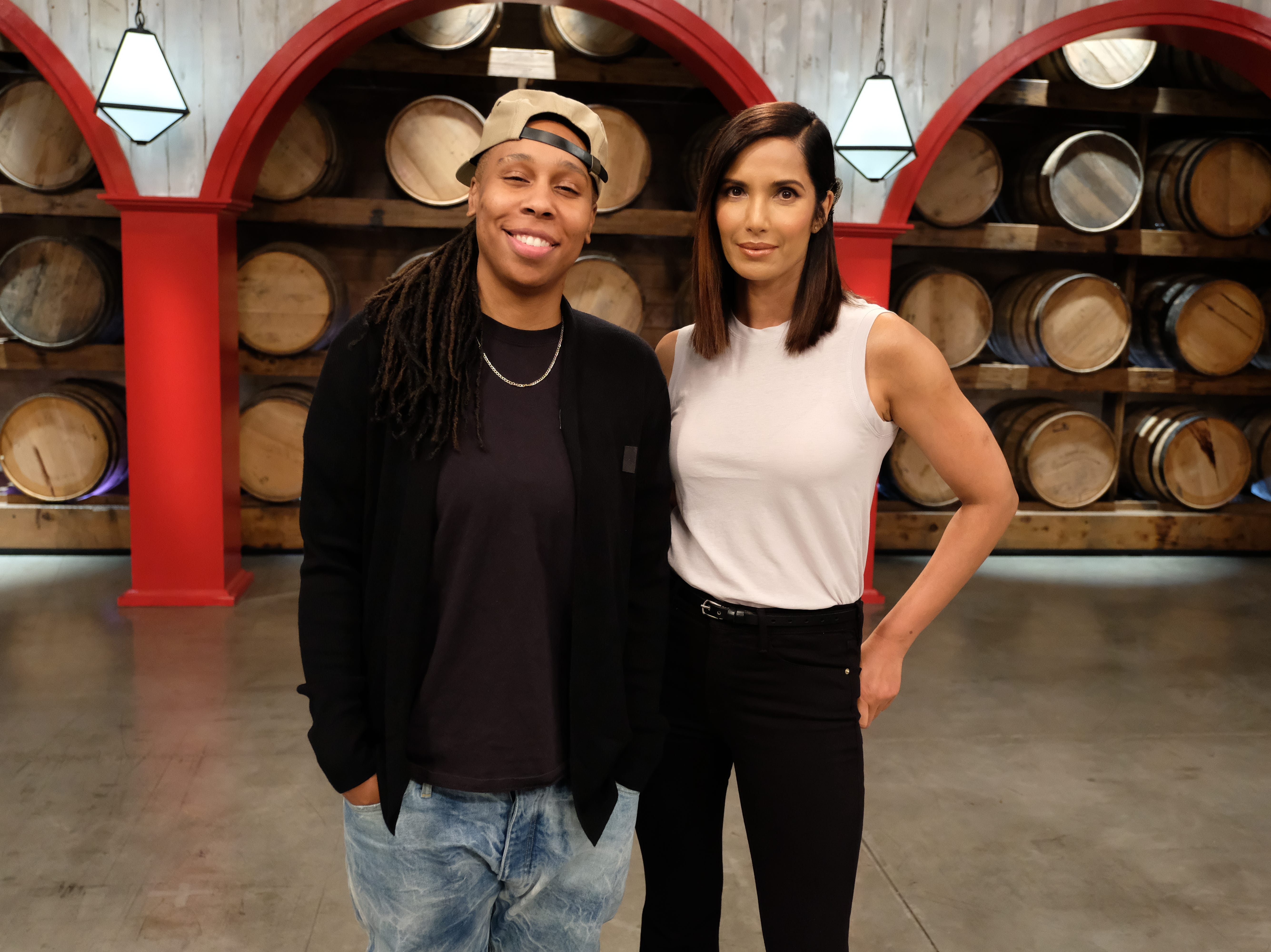 Writer/producers Lena Waithe and host Padma Lakshmi on  episode 7 of Bravo's 'Top Chef: Kentucky.