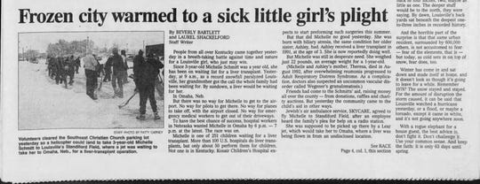 Courier Journal coverage of the Michelle Schmitt story in 1994.