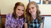 The Schmitt sisters: Michelle Schmitt (left) and Ashley Schmitt