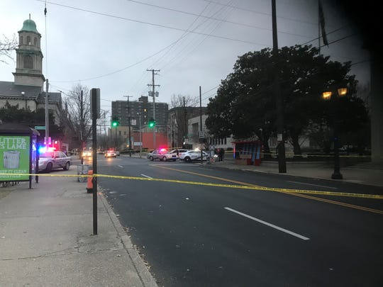 One person was shot Wednesday at Fourth and West Kentucky streets.