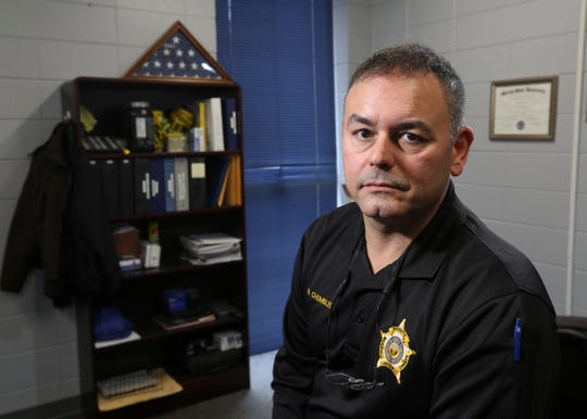 Sgt. Ray Chumbler, the school resource officer at the Marshall County High School, was the first officer to enter the building during last year's school shooting. He saw students running and ran toward the source of panic. Jan. 14, 2019