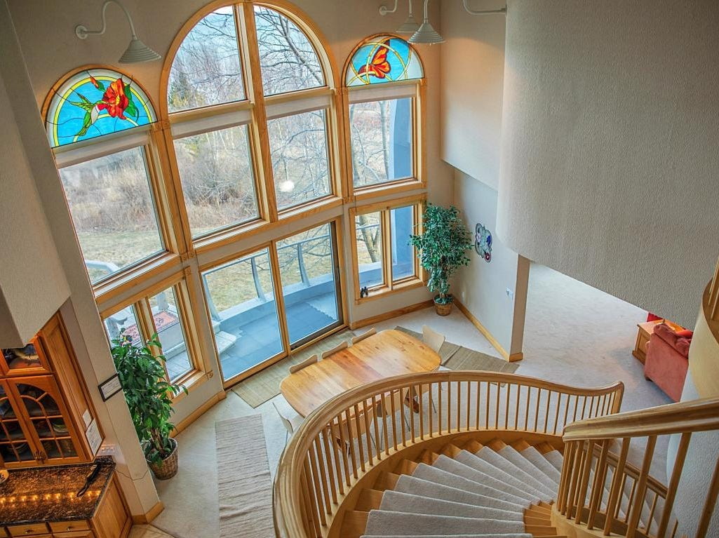 View from Manitowoc's dome home stairway