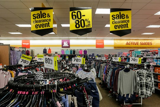 Clearance signs on display at the Shopko store on Calumet Ave Wednesday, January 16, 2019, in Manitowoc, Wis. The company filed for bankruptcy Wednesday and announced it would be closing more than 100 stores, including the one in Manitowoc. Joshua Clark/USA TODAY NETWORK-Wisconsin