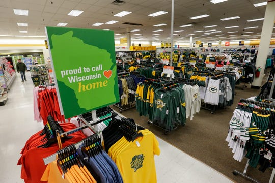 A sign shows pride in Shopko's Wisconsin roots at the store on Calumet Ave Wednesday, January 16, 2019, in Manitowoc, Wis. The company filed for bankruptcy Wednesday and announced it would be closing more than 100 stores, including the one in Manitowoc. Joshua Clark/USA TODAY NETWORK-Wisconsin