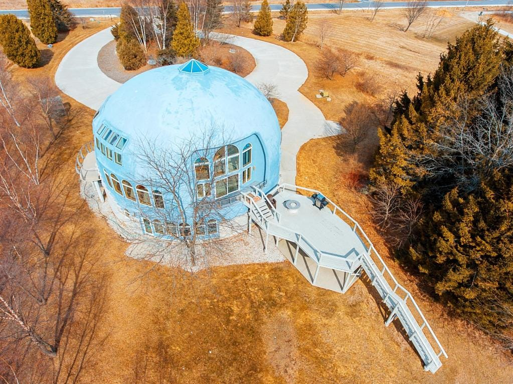 Sky view of Manitowoc's dome home
