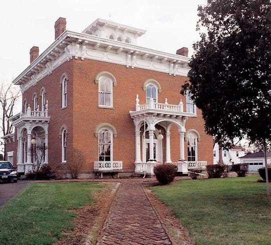 This stately brick home at the corner of State and Washington streets was built by Henry True's grandfather, Judge Ozias Bowen. After a restoration in the 1960s, it became the Stengel-True Museum. Today, it also houses Marion Community Foundation.