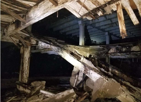Local developer Billy Orgel received a grant worth $650,406 to begin redevelopment of two historic buildings Downtown. One of the buildings has so much water damage that one of the floors inside collapsed.