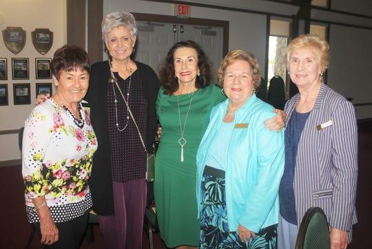 Chris Cody, Bev Novark, Jean King, Eileen Carlsen and Betty Richardson