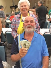 Congratulations to William Muller, with Bingo Committee member Shirley Posner. Muller was the big winner at JCMI's Monday Night Bingo.