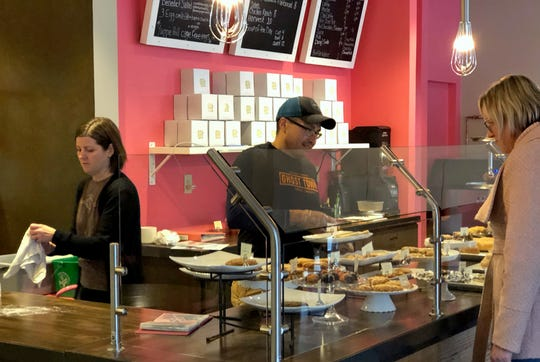 Sugar and Flour is open  for breakfast and lunch and sells an array of bakery items, especially cookies. Working together works out for them, say owners Karen and George Herrera.
