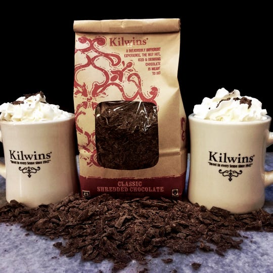 Kilwins at Bayshore sells prepared hot chocolate but also its shredded chocolate for you to make your own drinks at home.