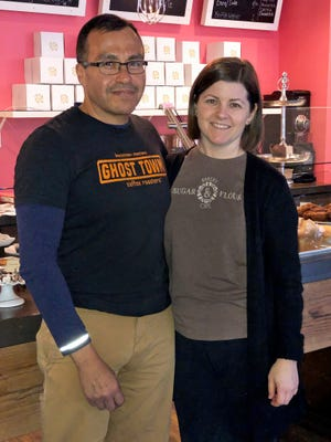 George and Karen Herrera opened the cafe portion of Sugar and Flour in October 2017.