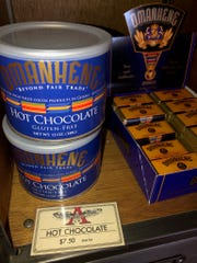 Omanhene Chocolate Co. in Mequon makes its own hot chocolate mix.