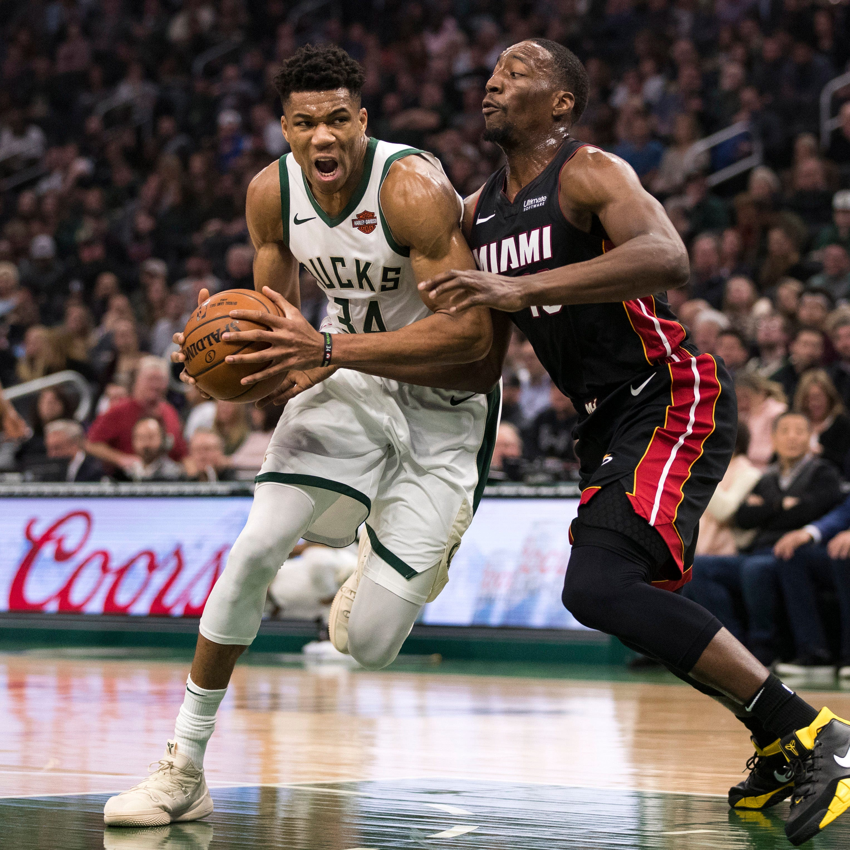 Bucks 124, Heat 86: Giannis Antetokounmpo's triple-double helps put offense in high gear