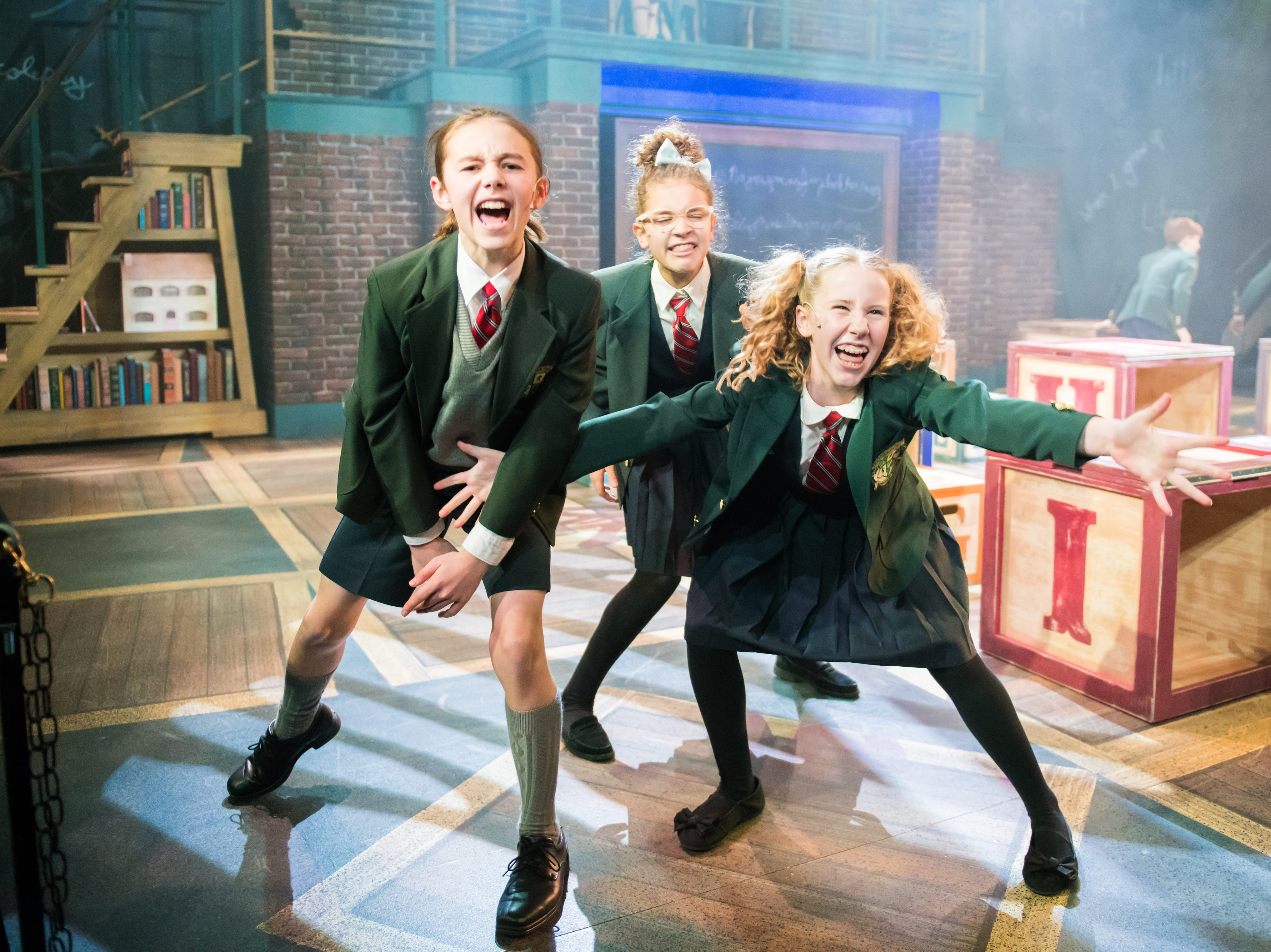 """The Diligent cast rocks out in First Stage's """"Matilda."""" The production continues through Feb. 24."""