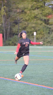 Senior center back Naya Vialva finished classes at Mount Olive early in order to enroll at LaSalle for the spring soccer season.
