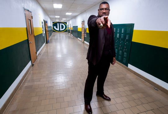 Jeff Davis High School Principal Bobby Abrams is shown at the school in Montgomery, Ala., on Wednesday January 16, 2019.