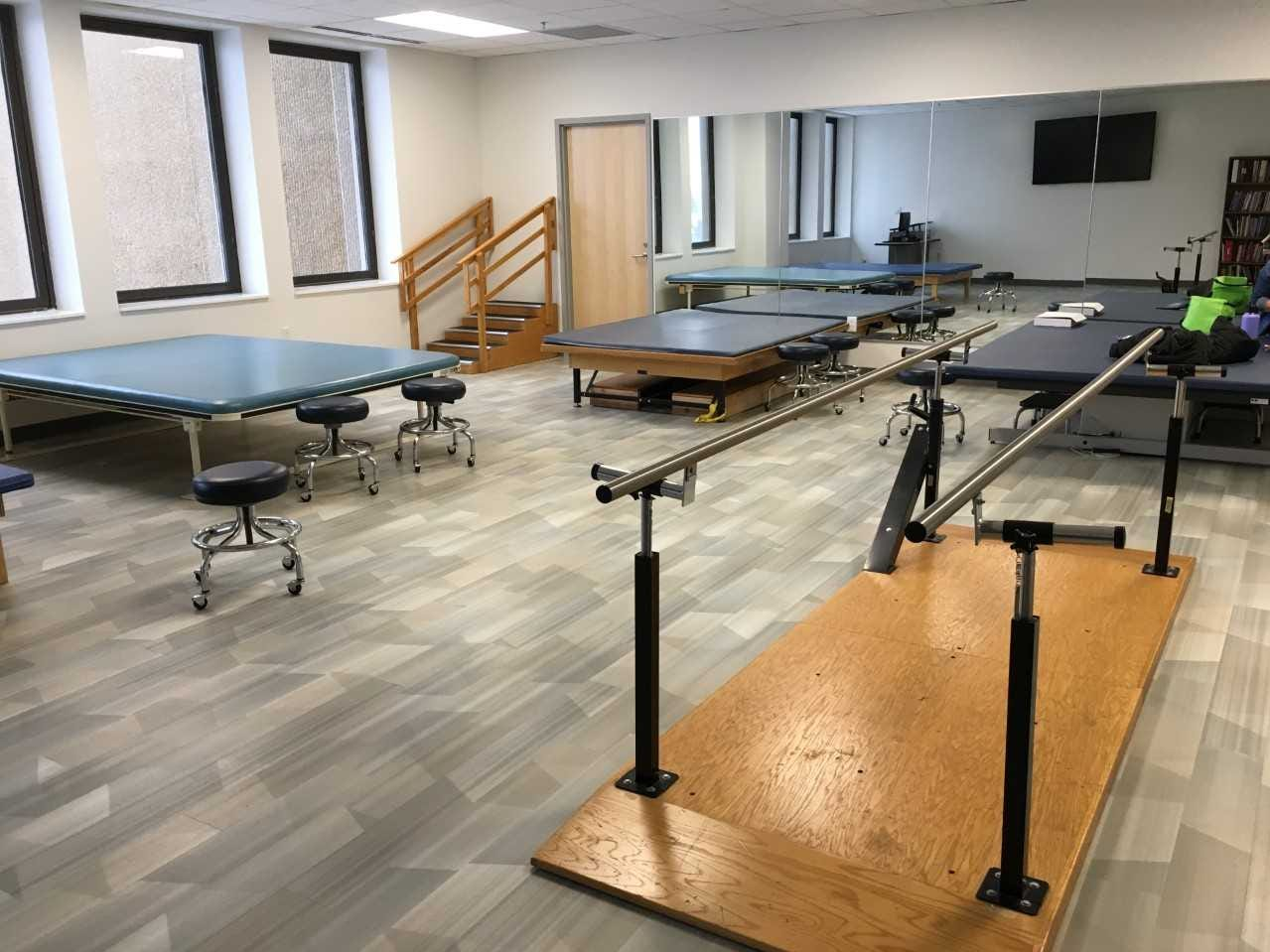 A physical therapy classroom at Ivy Tech Community College in downtown Muncie.