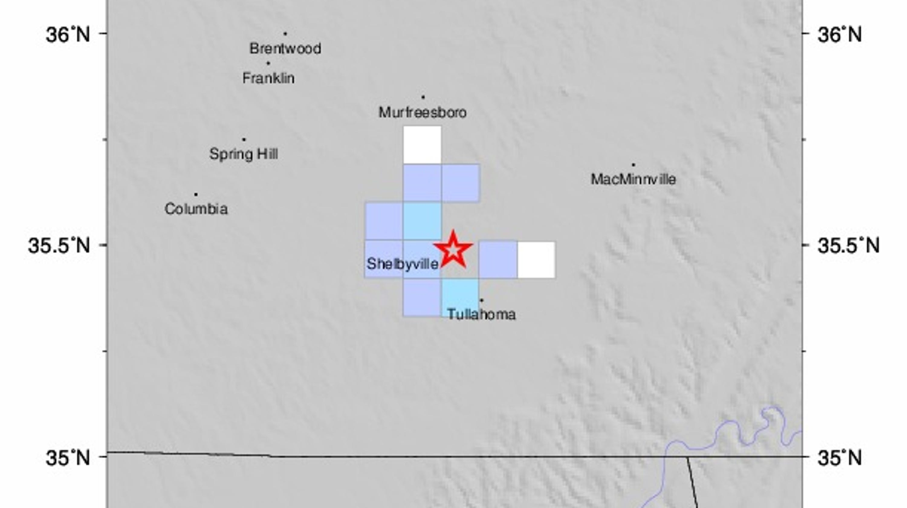Earthquake in Tennessee latest in string reported by USGS