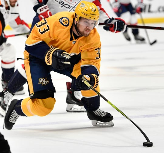 Predators right wing Viktor Arvidsson leads the team with 21 goals despite missing two dozen games because of injury.