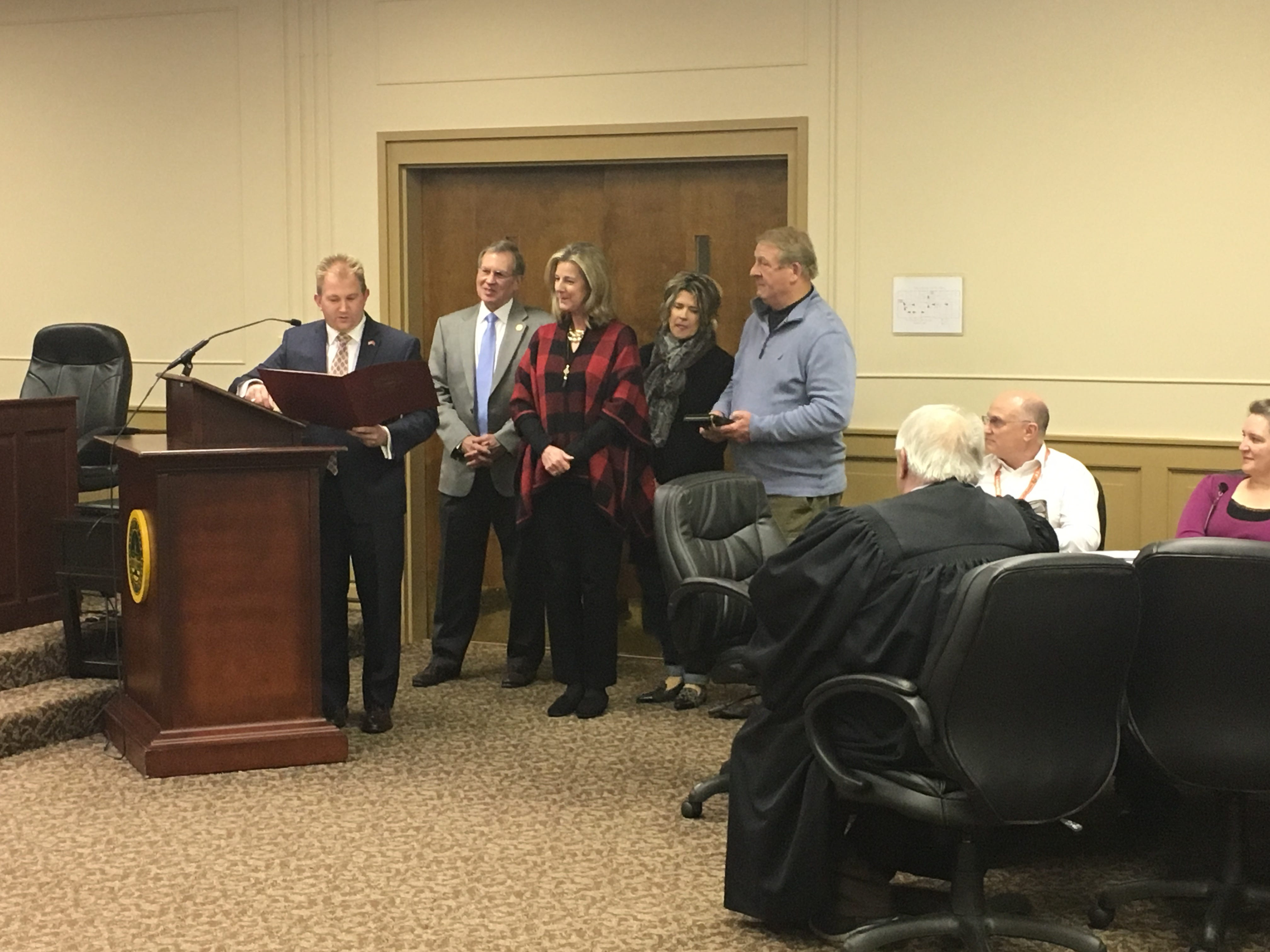 Re-elected City Recorder Connie Kittrell was sworn in Jan. 15, 2019. She was also recognized by Rep. William Lanberth for her work with the city, including being named Judge of the Year in 2018 at the Tennessee Municipal Judges Conference.