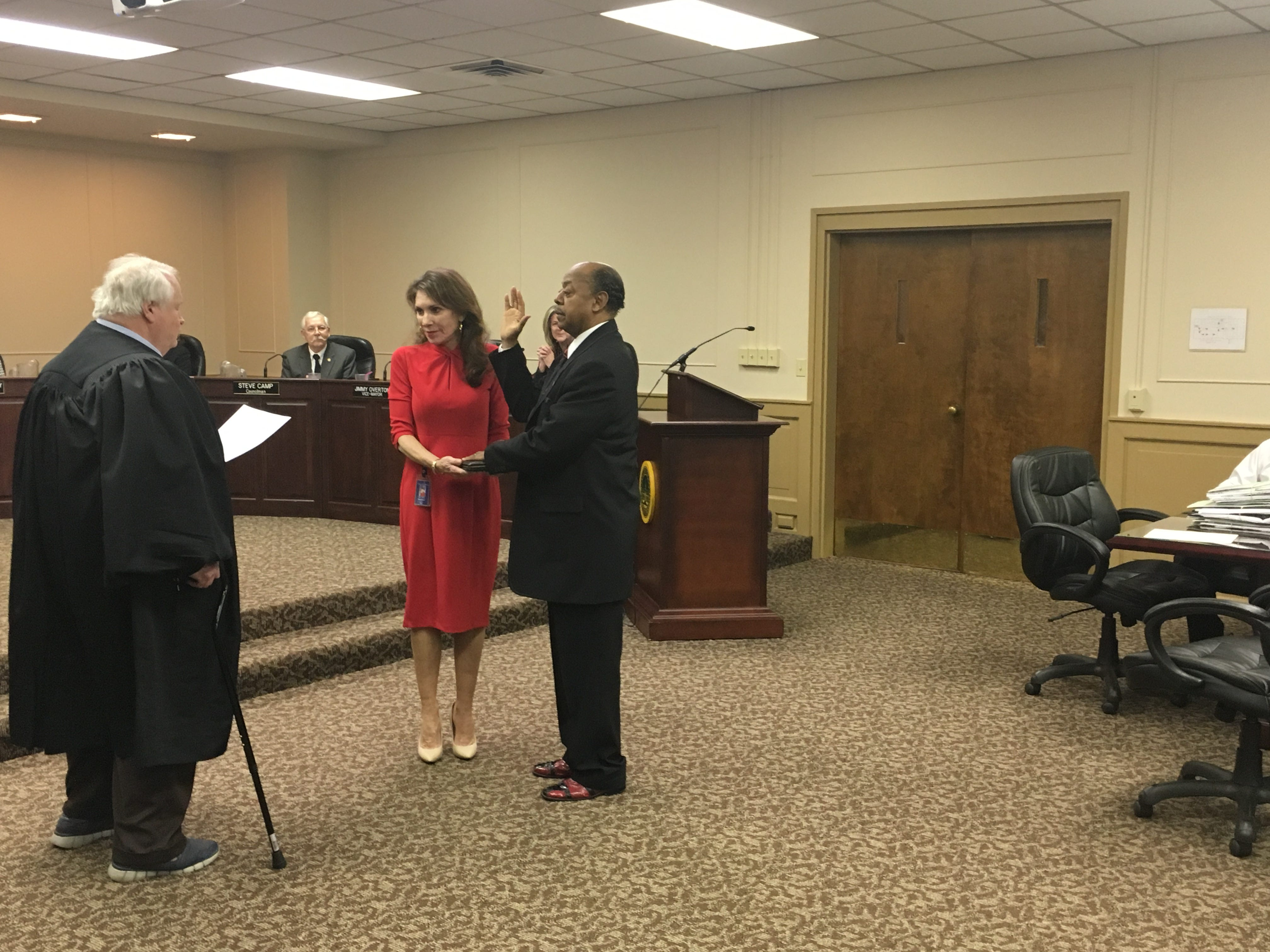 Re-elected John Alexander is sworn in as  District 5 Councilman on Jan. .15, 2019.