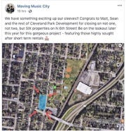 Cleveland Park residents learned about the short-term rental development proposal in their neighborhood from this Facebook post.