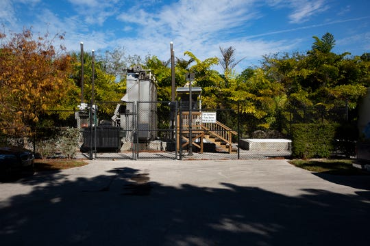 The Cove Stormwater Pump Station is pictured, Wednesday, Jan. 16, 2018 at the corner of 9th Street South and Broad Avenue South in Naples.