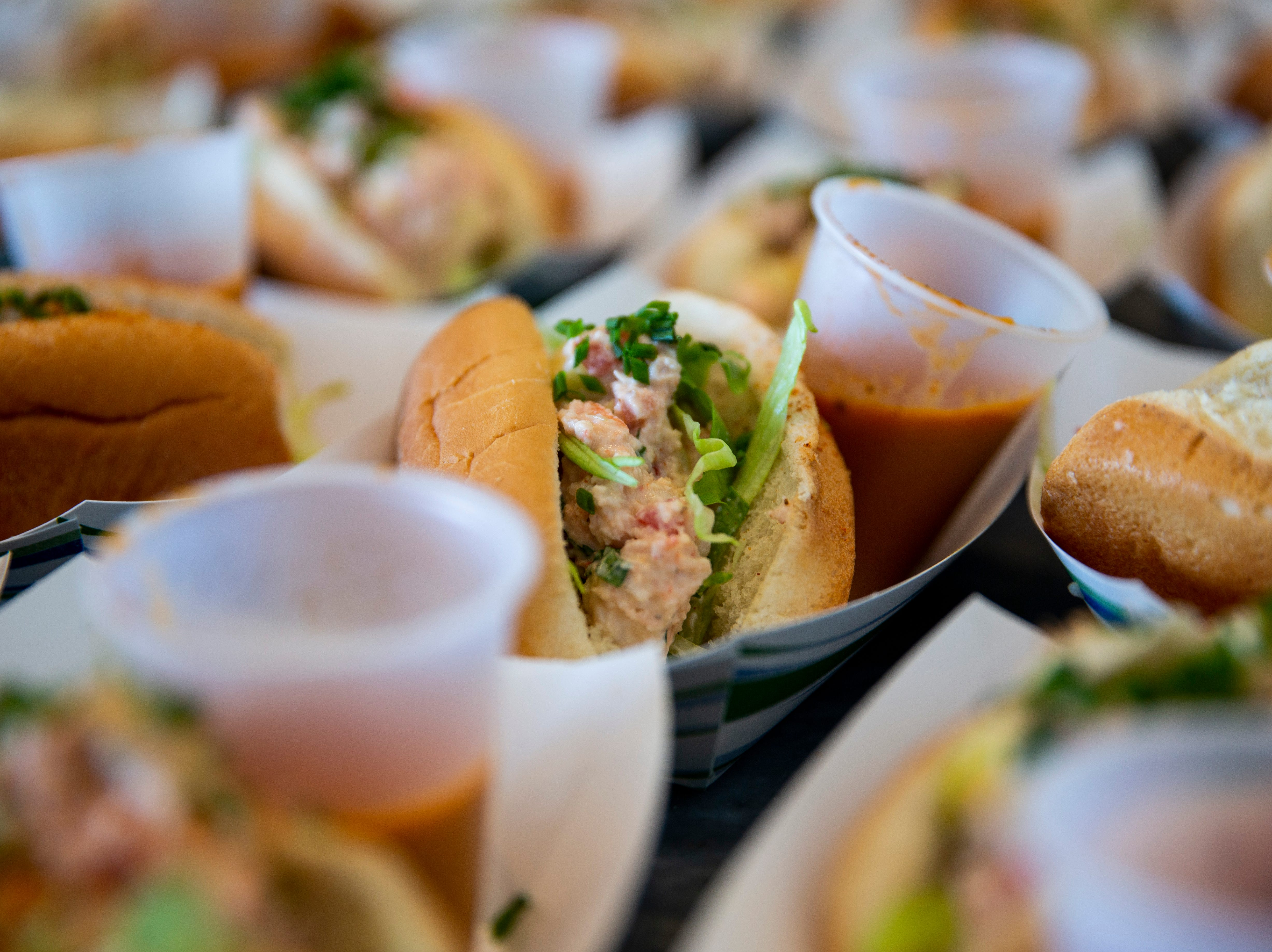 Lobster rolls prepared by David Nelson, executive chef at Timeless Restaurant, sit out for guests to eat during the 7th annual Kitchen Tour, hosted by the Naples Woman's Club in Naples on Wednesday, January 16, 2019.