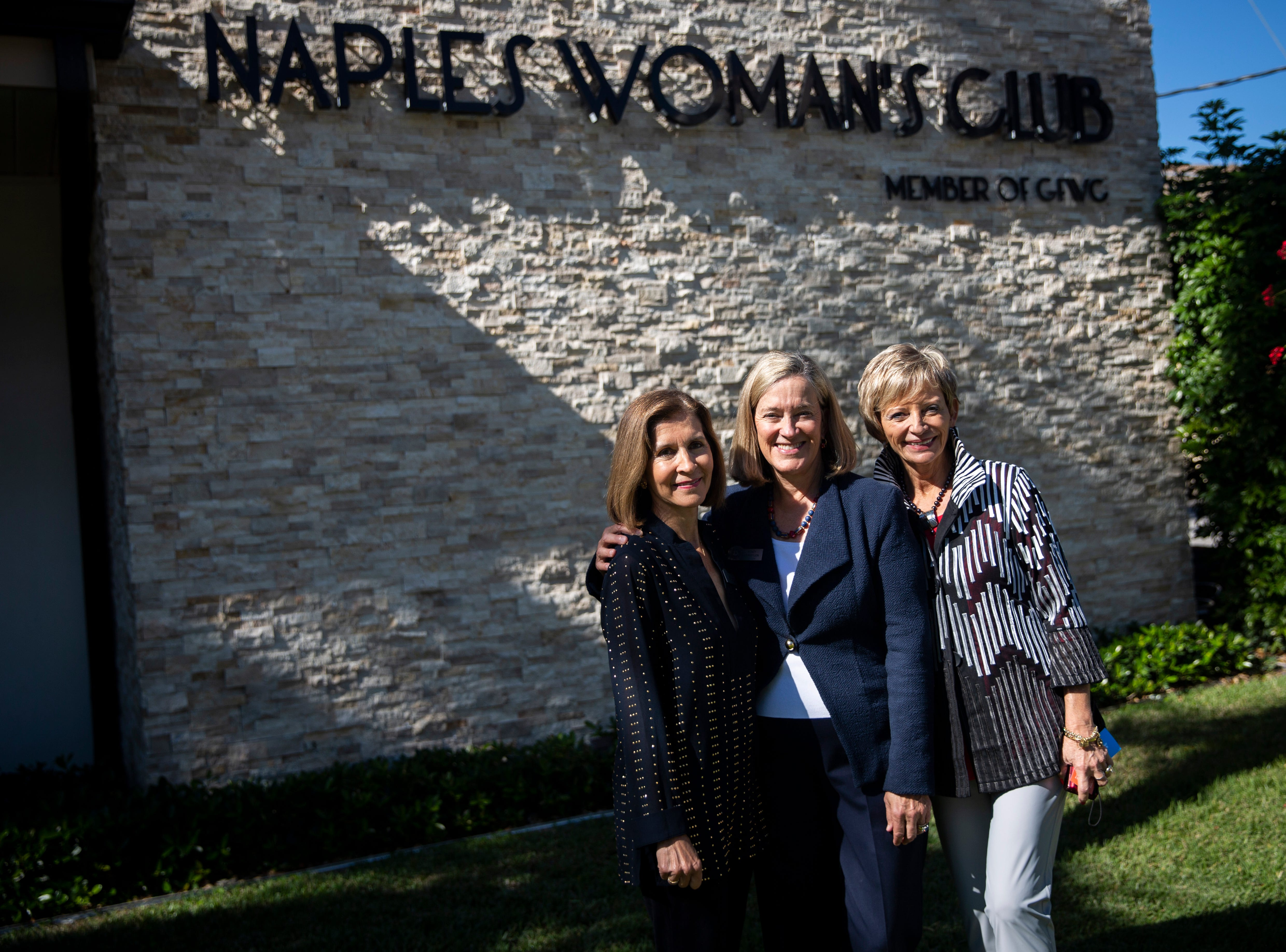 From left to right, Naples Woman's Club Past President Jalna MacLaren, President Stacy Vermylen, and Past President and Chair of the Kitchen Tour Lee Kraus pose for a portrait during the 7th annual Kitchen Tour, hosted by the Naples Woman's Club in Naples on Wednesday, January 16, 2019.