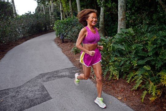 Jeannie Rice, 70, is shown training for the Naples Daily News Half Marathon in this 2015 file photo. A part-time Bonita Springs resident, Rice recently set the world record the the fastest marathon by a woman age 70 or older.