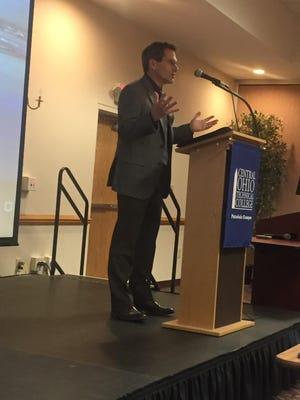 Steve Cohen addresses the Pataskala Area Chamber of Commerce on Jan. 15.