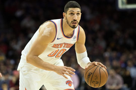 New York Knicks center Enes Kanter did not travel with the team for their game in London.
