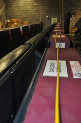 AVC Advantage voting machines besting tested in their Carlstadt warehouse before the 2016. Inspection was open to the public upon request.