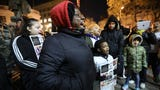 Paterson protestors met outside city hall Tuesday night to demand answers in the death of Jameek Lowery and to protest police brutality.  1/15/19
