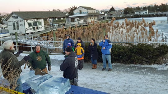 Paul Hart, Tuckerton Seaport executive director, talks about harvesting of ice in years gone by.