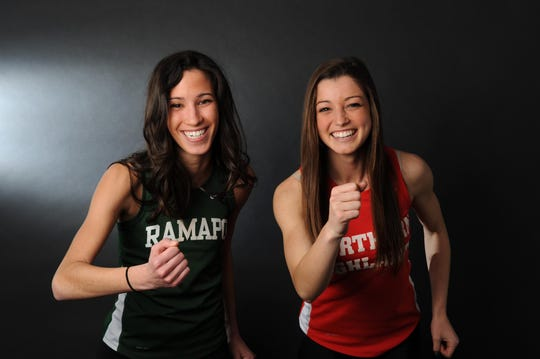Deanna DiLandro of Ramapo and Madison Holleran of Northern Highlands were The Record's girls indoor track runners of the year in 2013.