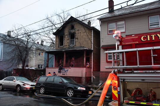 A home on Highland Street in Paterson was badly damaged after a fire broke out over night.